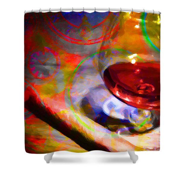 A Cognac Night 20130815 Shower Curtain by Wingsdomain Art and Photography