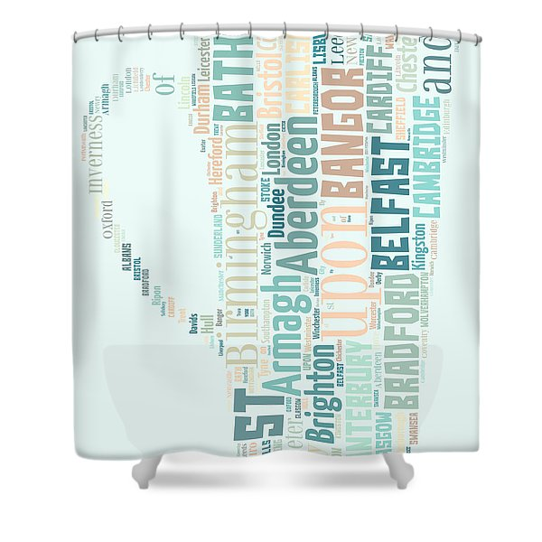 A Cup Of Britain Shower Curtain by Nomad Art And  Design