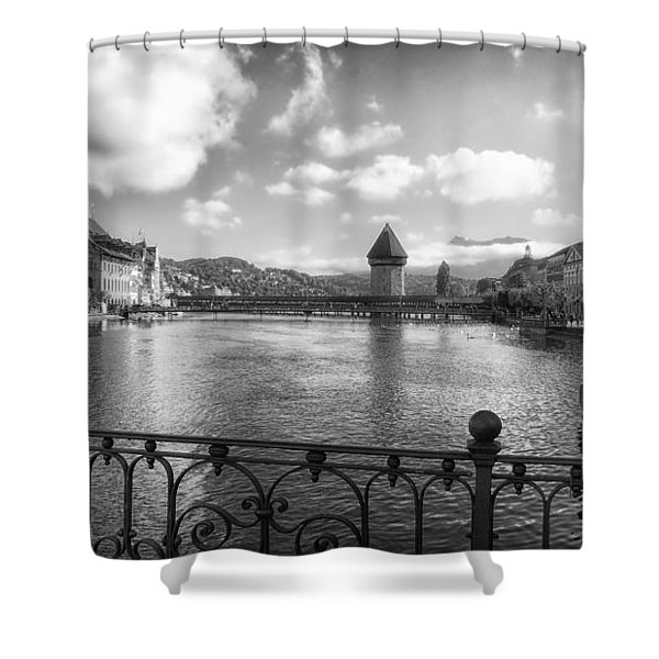 A Day In Lucerne Shower Curtain by Mountain Dreams