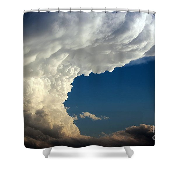 A Face In The Clouds Shower Curtain by Barbara Chichester