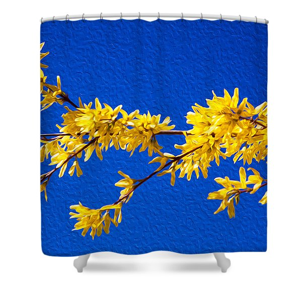 A Golden Afternoon Shower Curtain by Omaste Witkowski