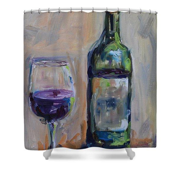 A Good Pour Shower Curtain by Donna Tuten