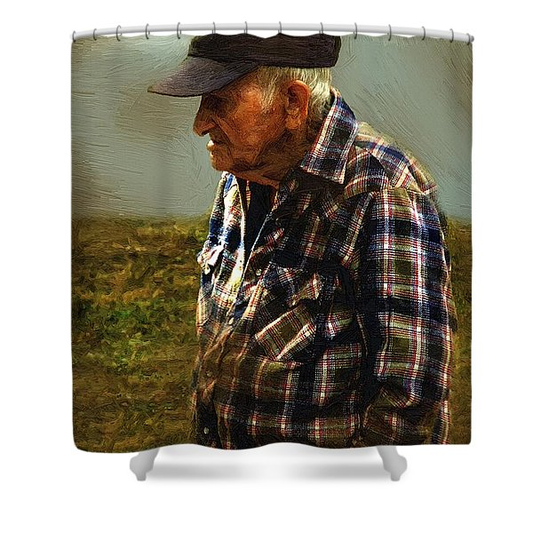 A Lifetime in the Fields Shower Curtain by RC DeWinter