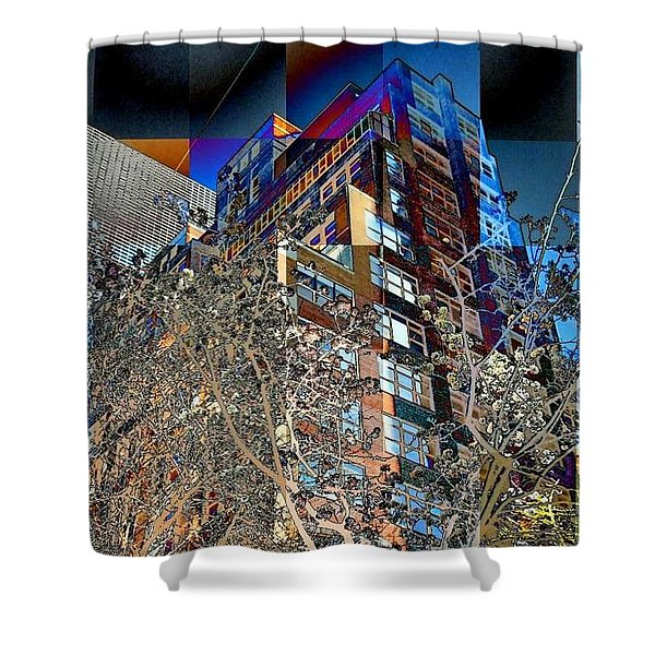 A Little Bit Of Spring In The City Shower Curtain by Miriam Danar