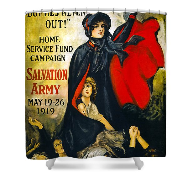 A MAN MAY BE DOWN . . .   1919 Shower Curtain by Daniel Hagerman
