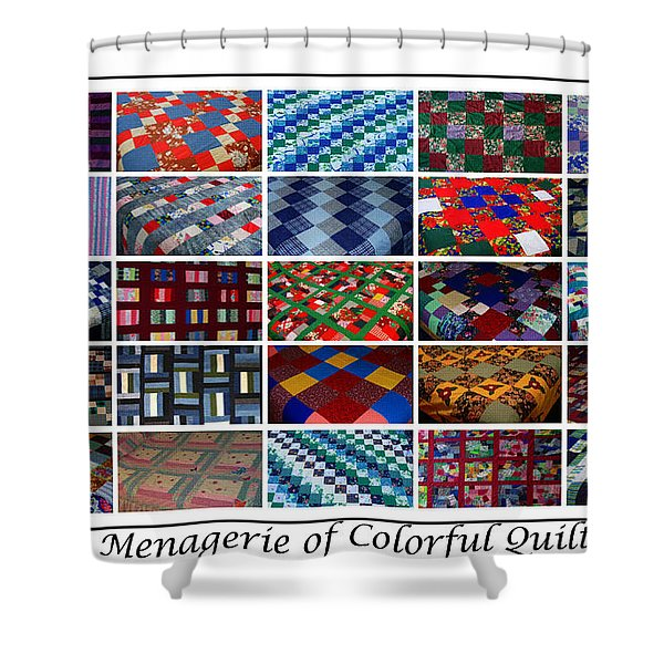 A Menagerie of Colorful Quilts  Shower Curtain by Barbara Griffin