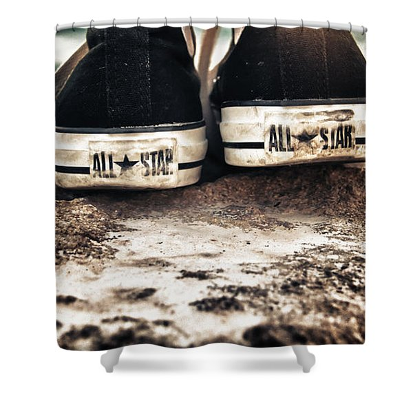 A Pair Of Stars Shower Curtain by Stylianos Kleanthous