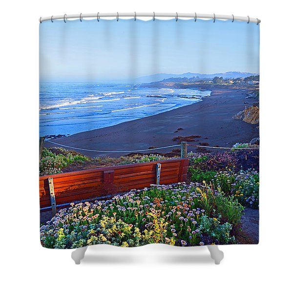 A Place To Reflect Shower Curtain by Lynn Bauer