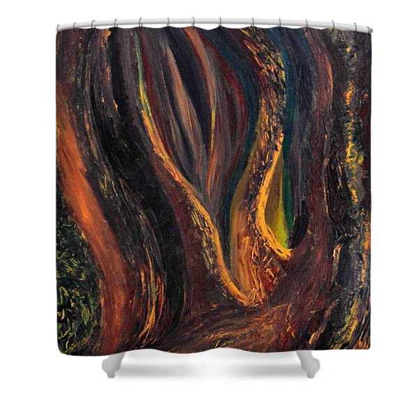 A Radiant Heart Light Shower Curtain by Daina White
