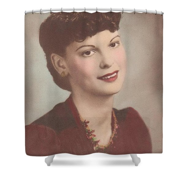 A Real Lady Shower Curtain by Donna Wilson
