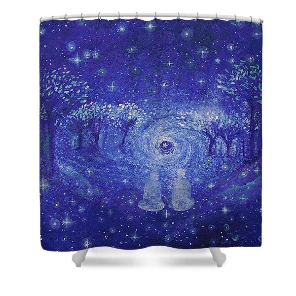 A Star Night Shower Curtain by Ashleigh Dyan Bayer