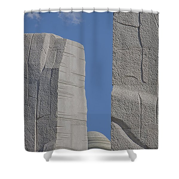 A Stone Of Hope Shower Curtain by Susan Candelario
