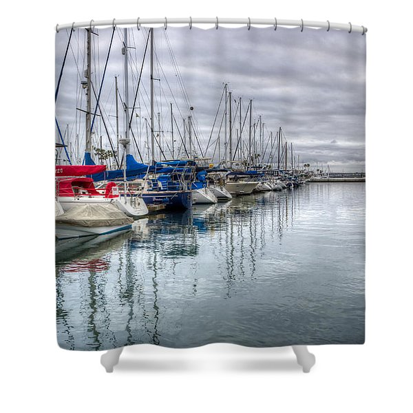 A Storm Was Brewing Shower Curtain by Heidi Smith