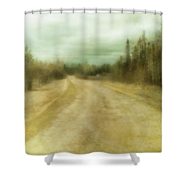 A Textured Pictorialist Photograph Of A Shower Curtain by Roberta Murray