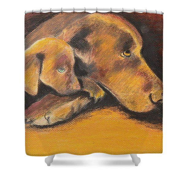 A Time To Rest Shower Curtain by Jeanne Fischer