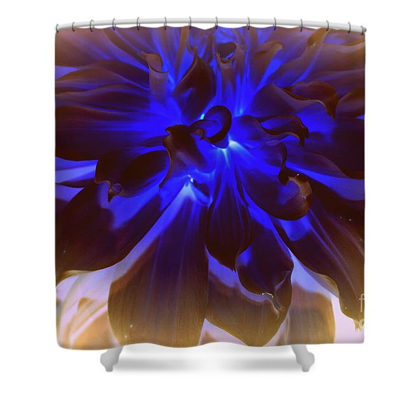 A Touch Of Blue Shower Curtain by Photographic Art and Design by Dora Sofia Caputo