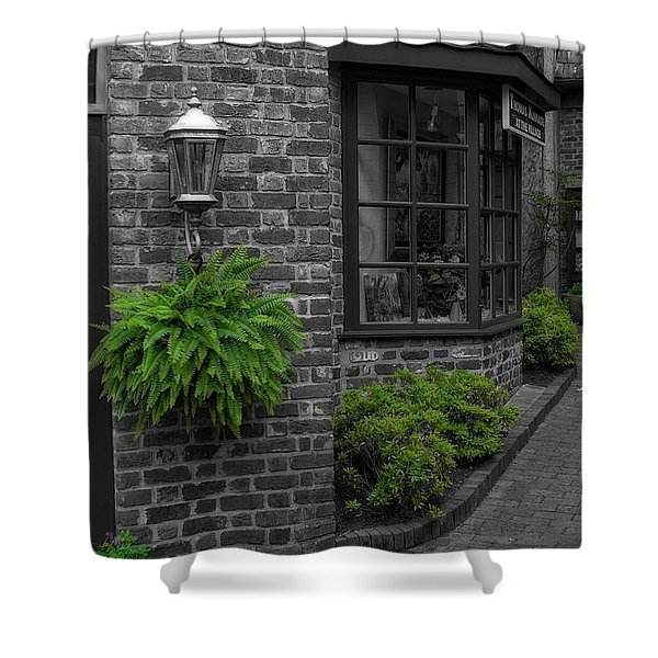 A Touch Of Green In The City Shower Curtain by Dan Sproul