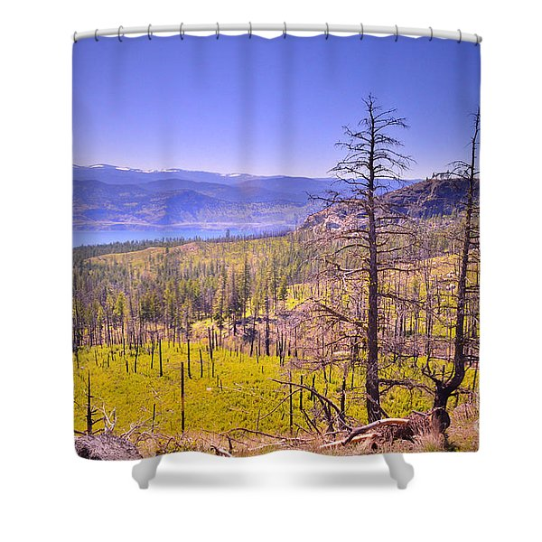 A View from Okanagan Mountain Shower Curtain by Tara Turner