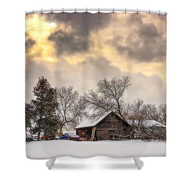 A Winter Sky Shower Curtain by Steve Harrington