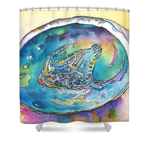 Abalone Shell Tropical Color Shower Curtain by Carlin Blahnik