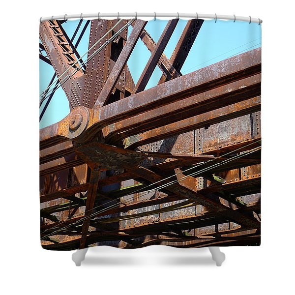 Abandoned - Whitford Railroad Bridge Shower Curtain by Richard Reeve