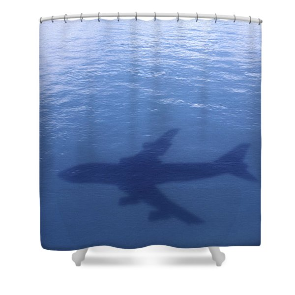 Above Mean Sea Level Shower Curtain by Daniel Furon