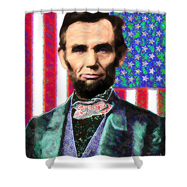 Abraham Lincoln 20130115 Shower Curtain by Wingsdomain Art and Photography
