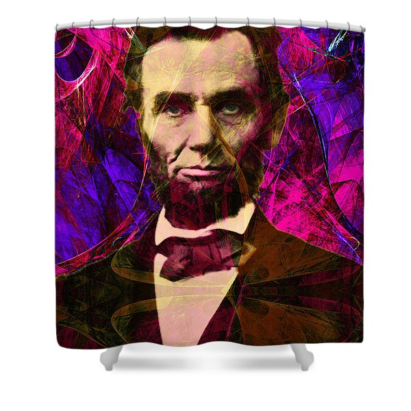 Abraham Lincoln 2014020502m68 Shower Curtain by Wingsdomain Art and Photography