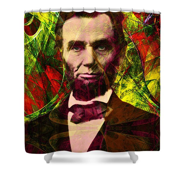 Abraham Lincoln 2014020502p28 Shower Curtain by Wingsdomain Art and Photography