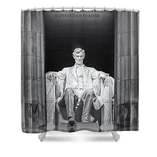 Abraham Lincoln Memorial Shower Curtain by Susan Candelario