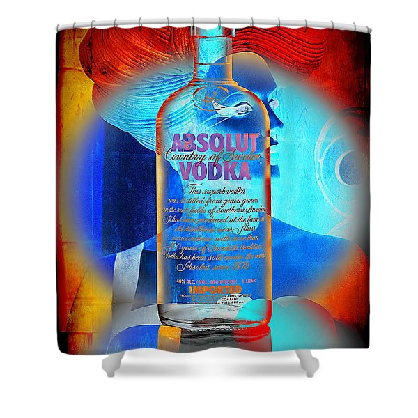 Absolut Psychedelic Shower Curtain by Chuck Staley