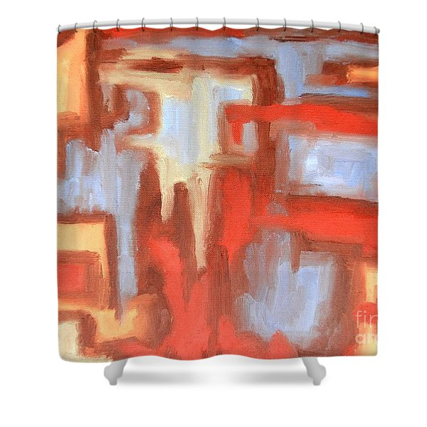 ABSTRACT 147 Shower Curtain by Patrick J Murphy