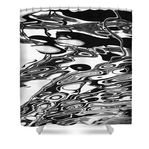 Abstract 4b Shower Curtain by Xueling Zou