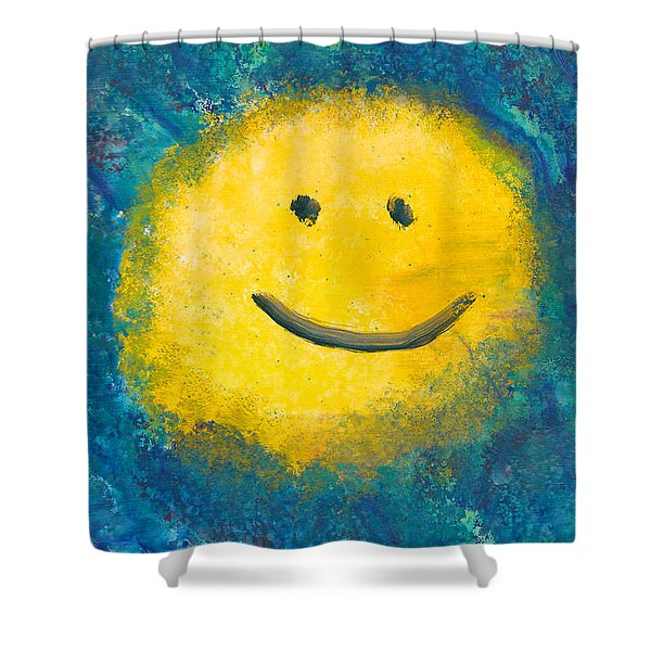 Abstract - Acrylic - Happy Abstraction Shower Curtain by Mike Savad