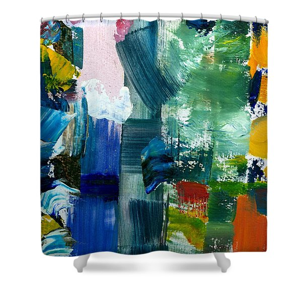 Abstract Color Relationships lll Shower Curtain by Michelle Calkins