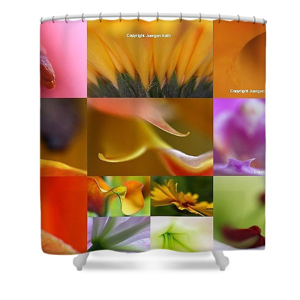Abstract Fine Art Flower Photography Shower Curtain by Juergen Roth