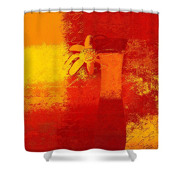 Abstract Floral - 6at01a Shower Curtain by Variance Collections
