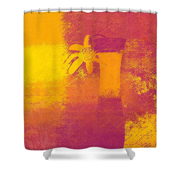 Abstract Floral - m31at1b Shower Curtain by Variance Collections