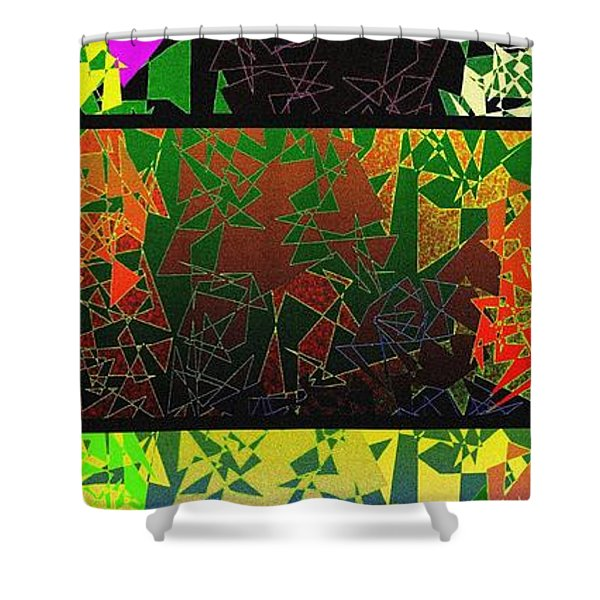 Abstract Fusion 193 Shower Curtain by Will Borden