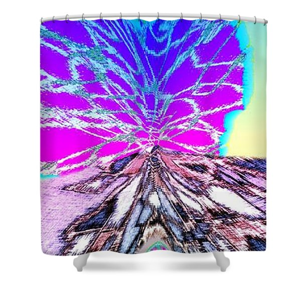 Abstract Fusion 196 Shower Curtain by Will Borden