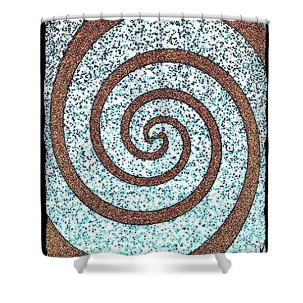 Abstract Fusion 231 Shower Curtain by Will Borden