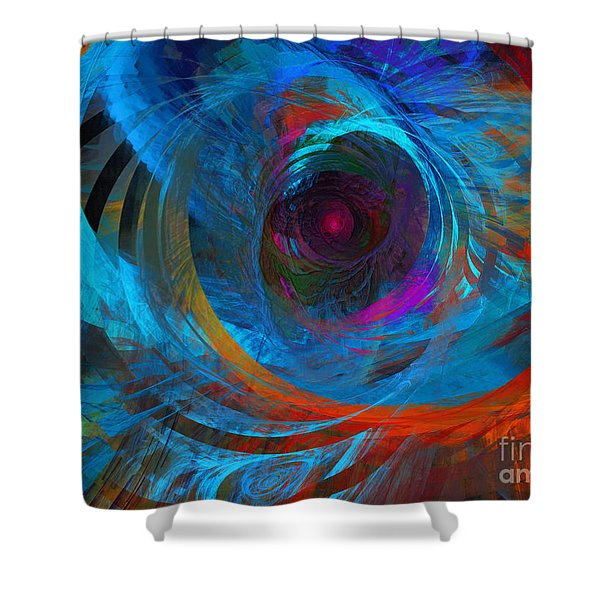 Abstract Jet Propeller Shower Curtain by Andee Design