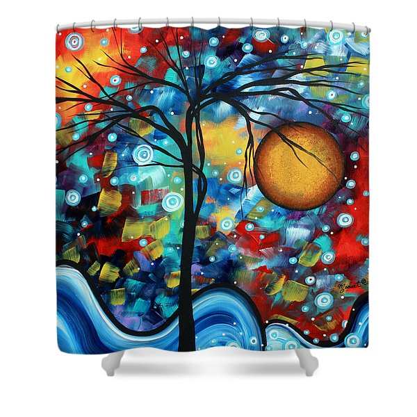 Abstract Landscap Art Original Circle of Life Painting SWEET SERENITY by MADART Shower Curtain by Megan Duncanson