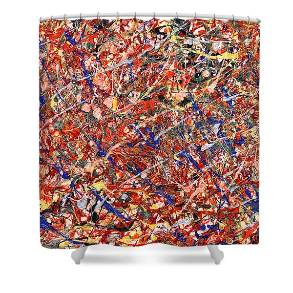 Abstract - Nail Polish - Clown Suicide Shower Curtain by Mike Savad