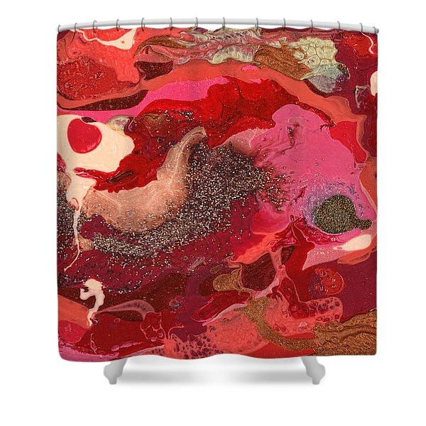 Abstract - Nail Polish - Love Shower Curtain by Mike Savad