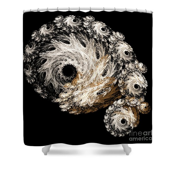 Abstract Seashell Shower Curtain by Andee Design