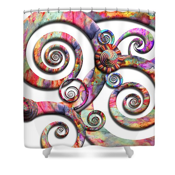 Abstract - Spirals - Wonderland Shower Curtain by Mike Savad