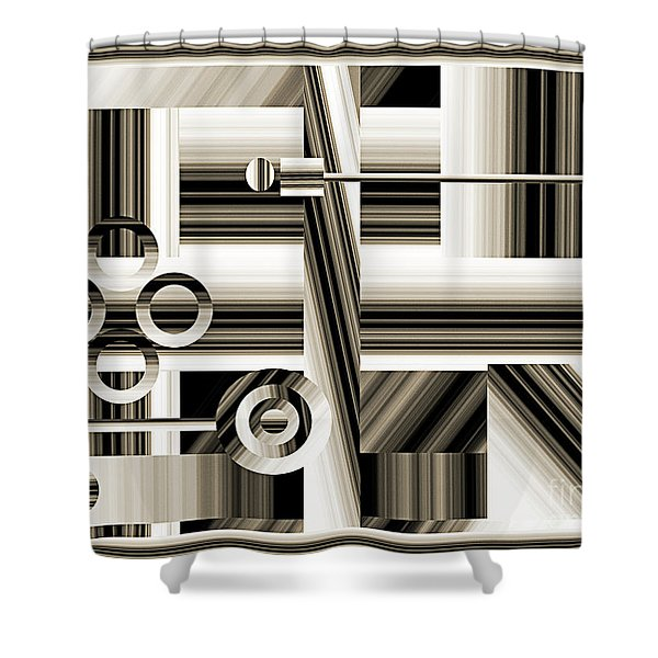 Abstract Station The Road To No Where Shower Curtain by Andee Design