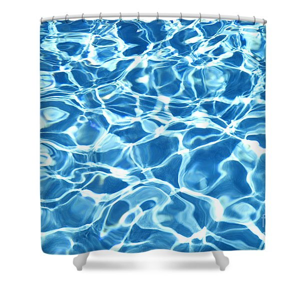 Abstract Water Shower Curtain by Tony Cordoza