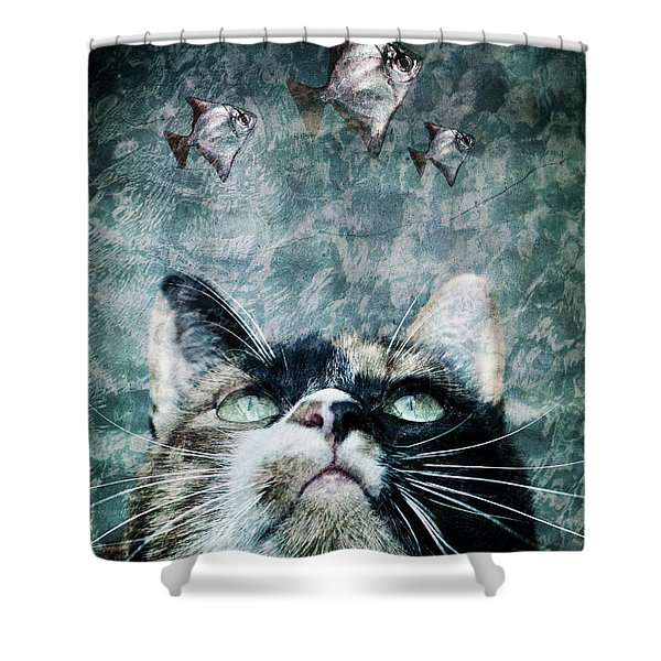 Abyss Cat Nr 2 Shower Curtain by Laura Melis